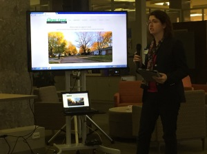 """Ball State University Historic Preservation graduate student Margaux Dever, presents a """"Dork Short"""" on the digital component of her M.S. thesis."""